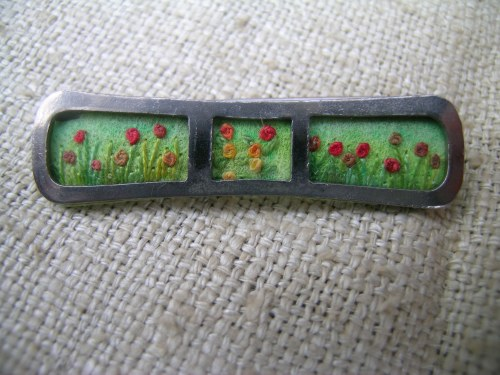 Summer meadow brooch 5