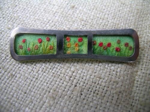 Summer meadow brooch 5