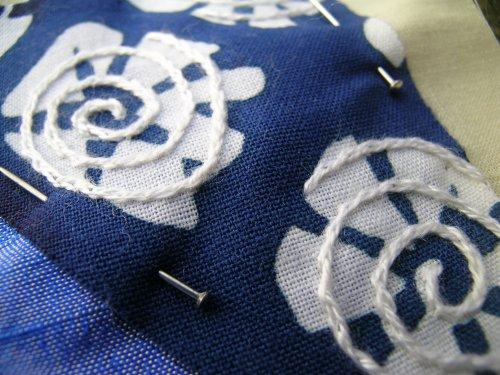 More blue crazy patchwork 2