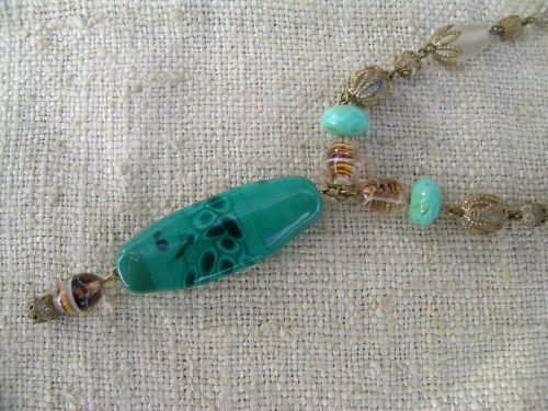 Turquoise drop necklace 3
