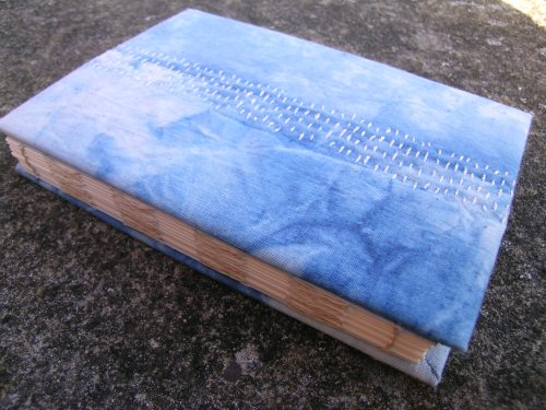 French Link Stitch indigo book b