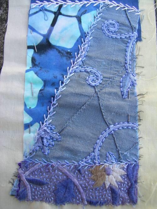 More blue crazy patchwork 3