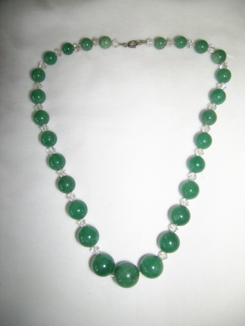 Green quartz necklace 1