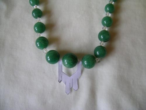 Green quartz necklace 4