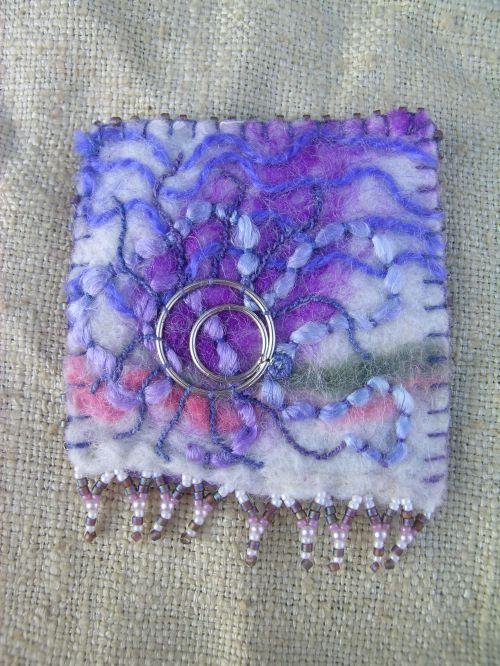 Lavender brooch 1
