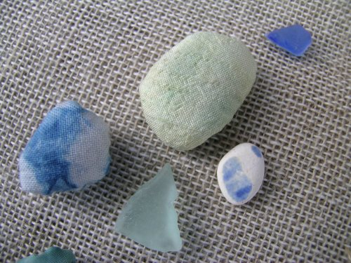Travelling book sea glass 2