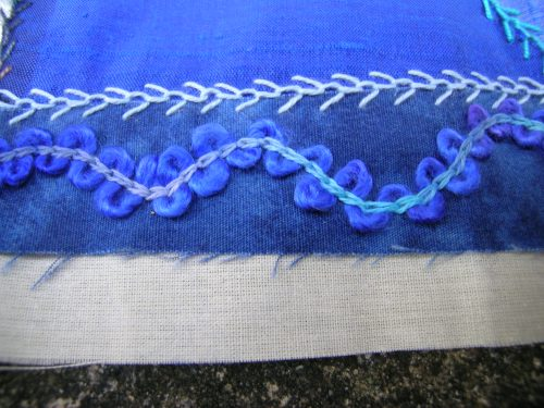 Threaded chain stitch 3