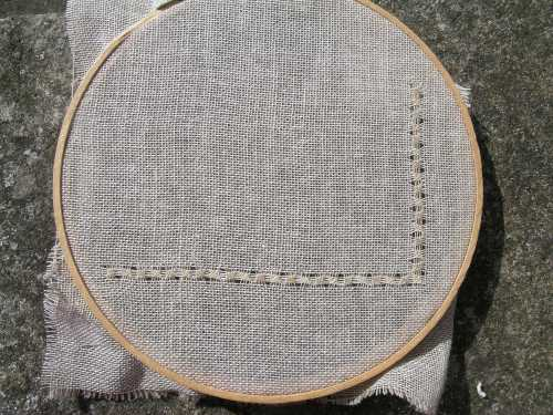 Pulled thread sampler border 1