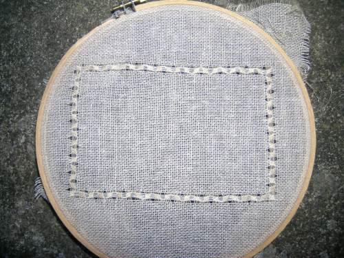 Pulled thread sampler border 3