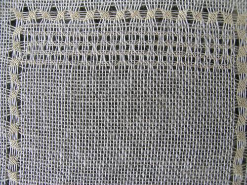 Pulled thread sampler - waffle stitch