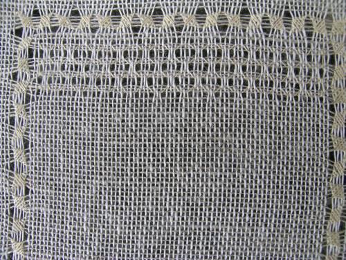 Pulled thread sampler - waffle stitch