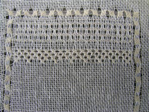 Pulled thread sampler - Diagonal Cross Filling