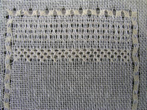 Pulled thread sampler - Diagonal Cross Filling