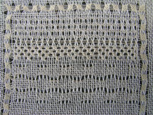 Pulled thread sampler - Ripple Stitch