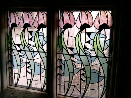 Stained glass, Blackwell House, Bowness