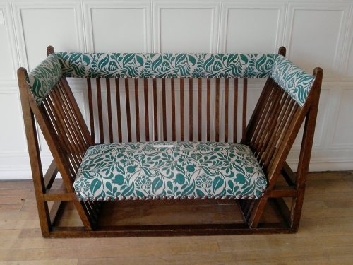 Arts and Crafts sofa, Blackwell House, Bowness