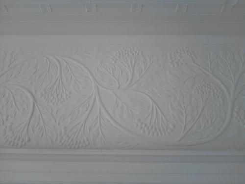 Decorative plasterwork, Blackwell House, Bowness