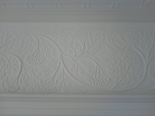 Decorative plasterwork, Blackwell House, Bowness