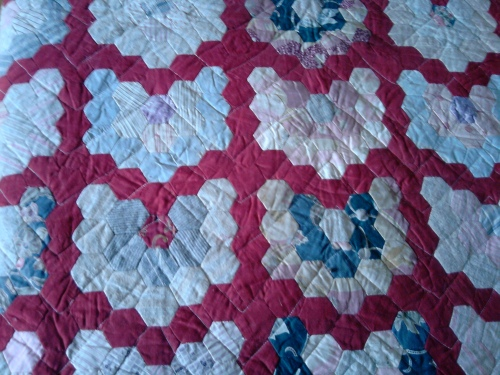 Patchwork bedspread, Blackwell House, Bowness