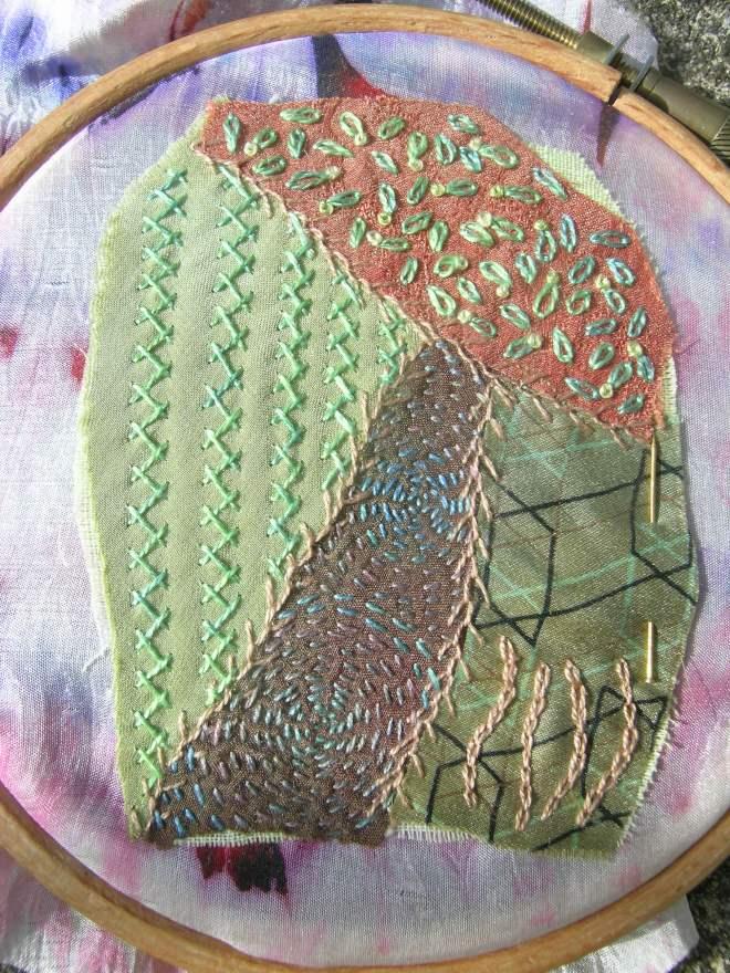 Crazy patchwork bead 1