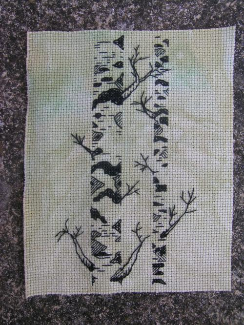 Free blackwork silver birches 1