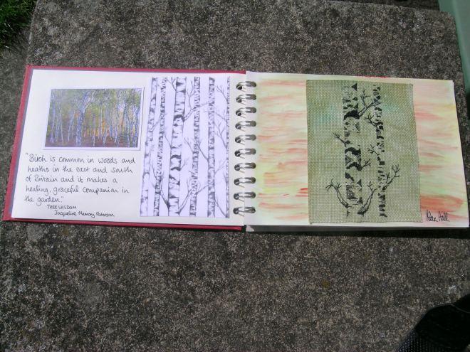 Free blackwork silver birches 3