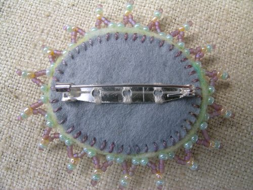 Pale lime brooch 5