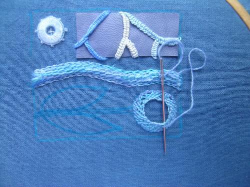 Spiral trellis stitch 1