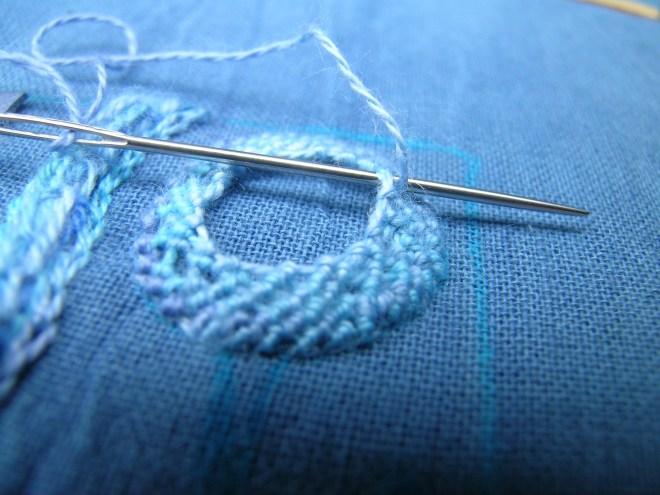 Spiral trellis stitch 2