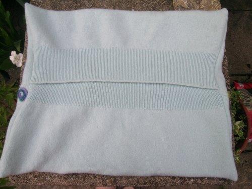 Upcycled felted cushion 5