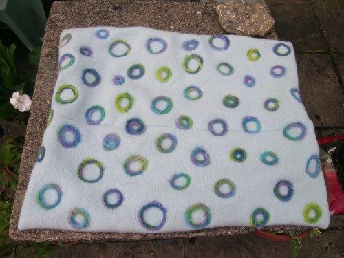 Upcycled felted cushion 4