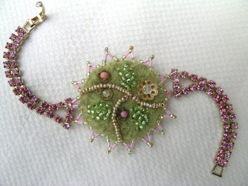 Pink corsage bracelet 7